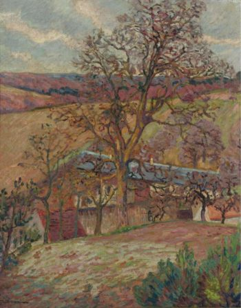 Farm and Trees at Saint Cheron 1893 | Armand Guillaumin | oil painting