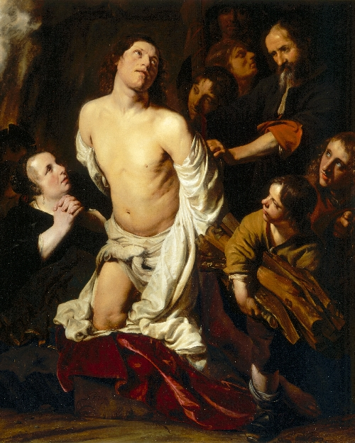 The Martyrdom of Saint Lawrence | Salomon de Bray | oil painting