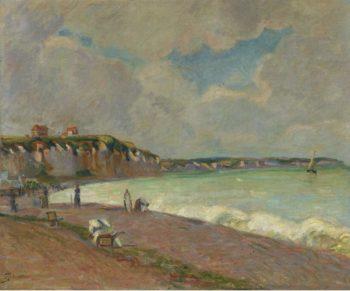 Landscape of La Manche Coast 1890 | Armand Guillaumin | oil painting
