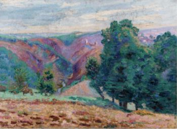 Landscape of the Creuse Ruins of the Castle of Crozant 1905 | Armand Guillaumin | oil painting