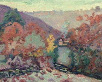 Landscape of the Creuse the Passion 1910 | Armand Guillaumin | oil painting