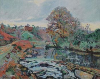 Landscape of the Creuse View on the Bridge of Charraud 1901   Armand Guillaumin   oil painting
