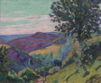 Landscape of the Crozant 1922   Armand Guillaumin   oil painting