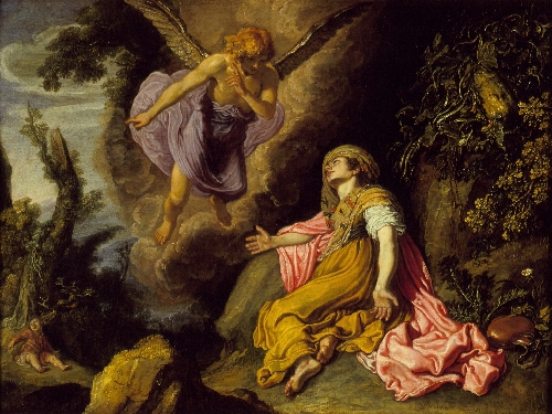 Hagar and the Angel | Pieter Lastman | oil painting