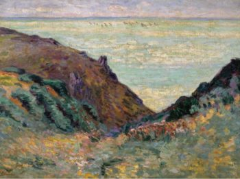 Les Carolles 1900   Armand Guillaumin   oil painting