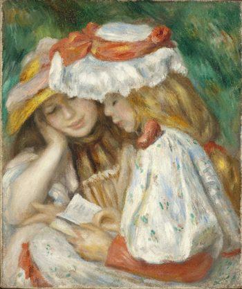 Two Girls Reading | Pierre-Auguste Renoir | oil painting