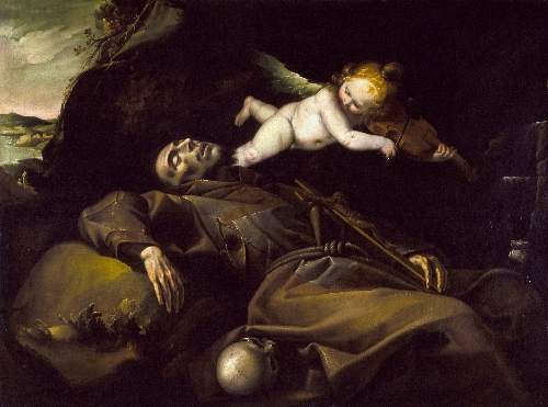 The Ecstasy of Saint Francis   Pier Francesco Mazzucchelli (attributed to) (called Morazzone)   oil painting