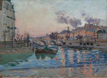 Paris the Bridge of Marie 1882 | Armand Guillaumin | oil painting