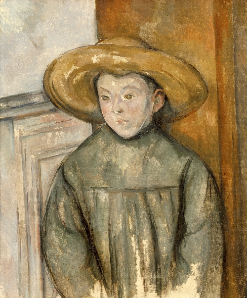 Boy With a Straw Hat | Paul Cezanne | oil painting