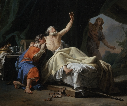 Isaac Blessing Jacob | Nicolas-Guy Brenet | oil painting