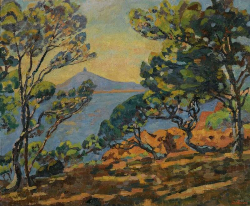 The Bay of Agay and the Semaphore 1922   Armand Guillaumin   oil painting