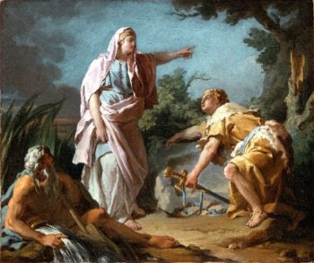 Aethra Showing her Son Theseus the Place Where his Father had Hidden his Arms | Nicolas-Guy Brenet | oil painting