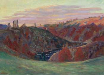 The Castle Ruins in Crozant 1898 | Armand Guillaumin | oil painting