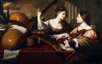 Divine Inspiration of Music | Nicolas Regnier | oil painting