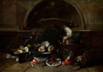 Still Life with Bottles and Oysters | Nicola van Houbraken | oil painting