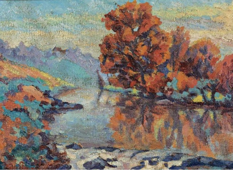 The Creuse 1908   Armand Guillaumin   oil painting