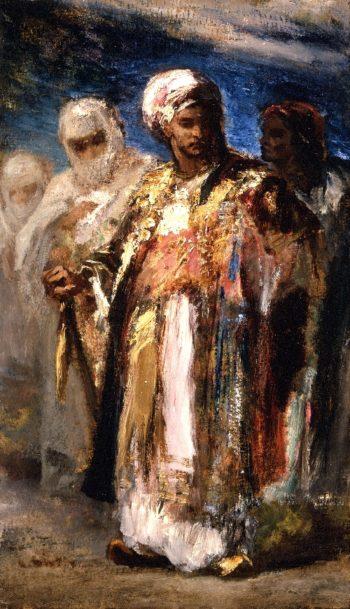 Men in Oriental Costumes | Narcisse-Virgile Diaz de la Pena | oil painting