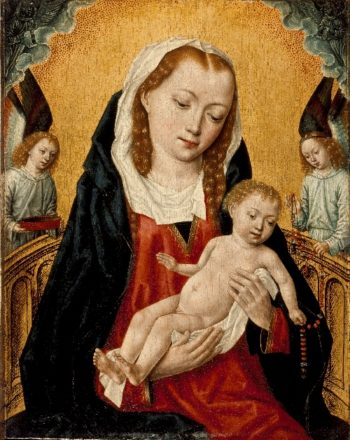 Virgin and Child with Two Angels | Master of the Saint Ursula Legend | oil painting