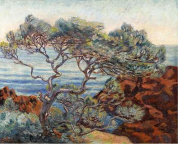 The Red Rocks at Agay 1898 | Armand Guillaumin | oil painting