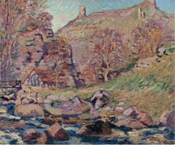 The Ruins of the Crozant Castle and the Watermill 1893 | Armand Guillaumin | oil painting