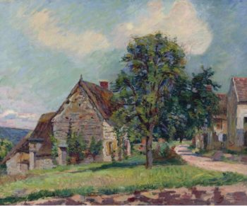The Village of Damiette 1885 | Armand Guillaumin | oil painting