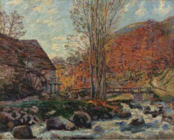 The Watermill 1893 | Armand Guillaumin | oil painting