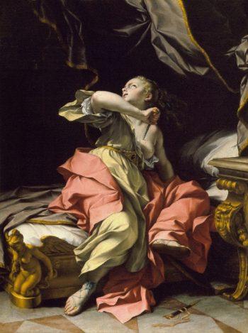The Death of Lucretia | Ludovico Mazzanti | oil painting