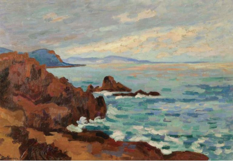 The West Trayas Agay 1913   Armand Guillaumin   oil painting