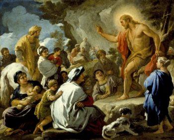 St. John the Baptist Preaching | Luca Giordano | oil painting