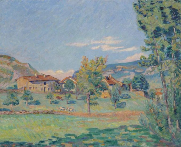 Thouaret the Banks of the Ain 1890 | Armand Guillaumin | oil painting
