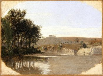 View of a Lake | Louis-Leopold Boilly | oil painting