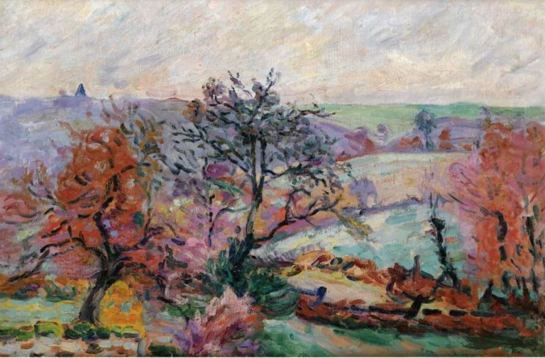 View of Crozant 1900   Armand Guillaumin   oil painting
