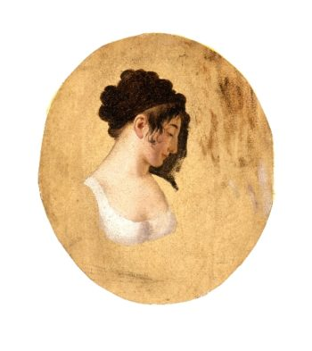 Profile of a Young Womans Head | Louis-Leopold Boilly | oil painting