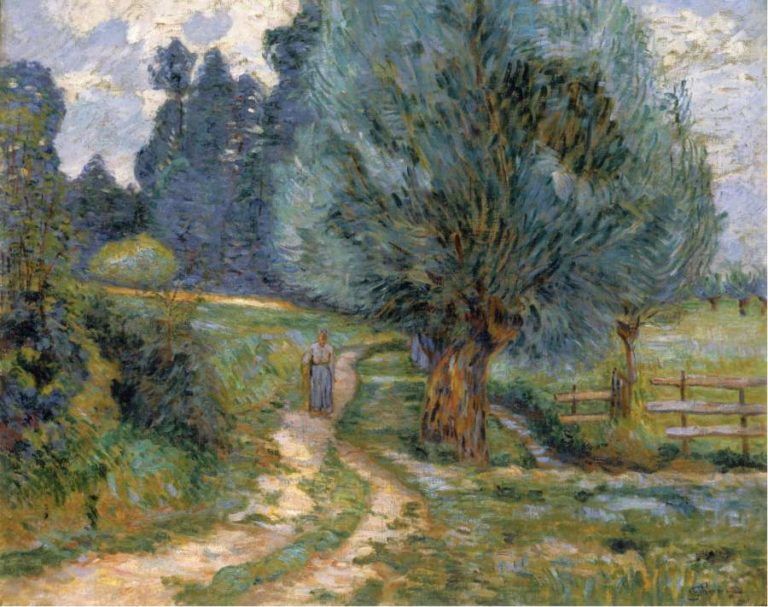 Walking by the Bank of the Orge 1889 | Armand Guillaumin | oil painting