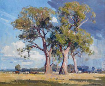 The Three Gums   Arthur Streeton   oil painting