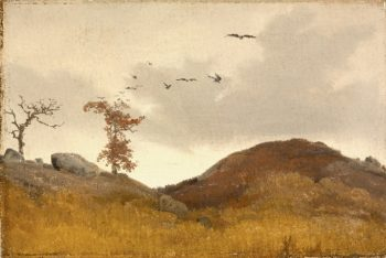 Landscape with Crows | Karl Friedrich Lessing | oil painting