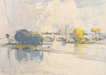 Tours 1912   Arthur Streeton   oil painting