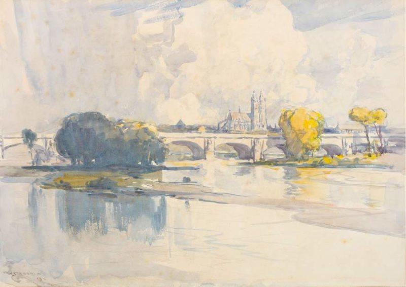 Tours 1912 | Arthur Streeton | oil painting
