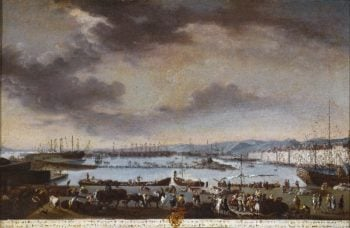 View of the Old Port of Toulon (El puerto viejo de Tolon) | Juan Patricio Morlete Ruiz | oil painting