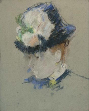 Head of English Woman 1884 85 | Berthe Morisot | oil painting