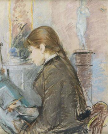 Paule Gobillard Drawing 1886 | Berthe Morisot | oil painting
