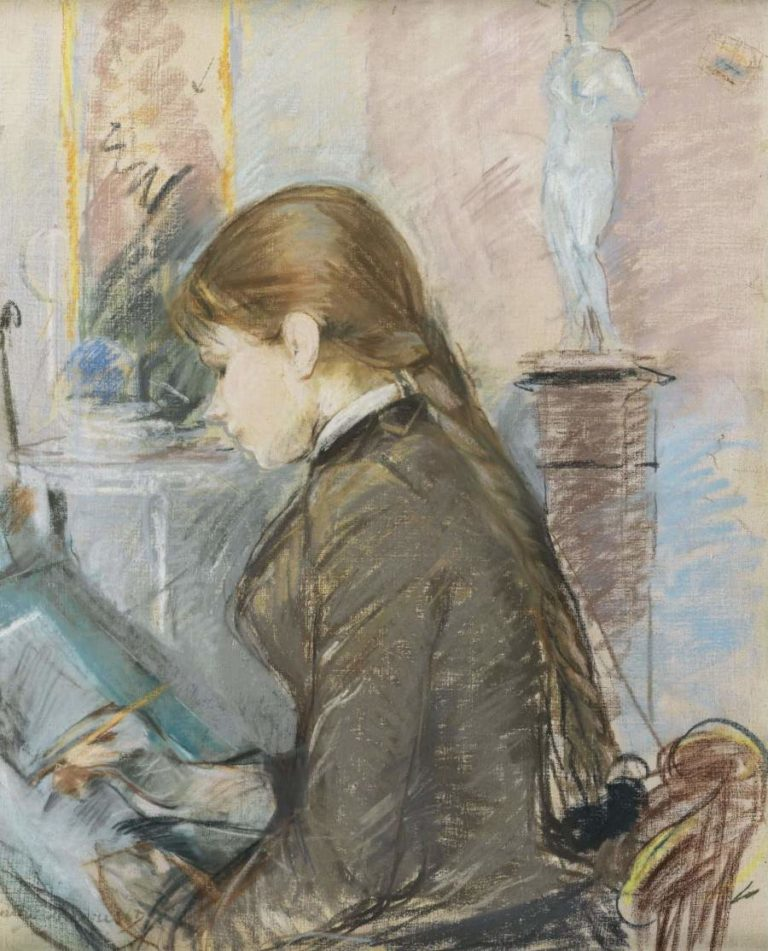Paule Gobillard Drawing 1886 | Berthe Morisot | oil painting