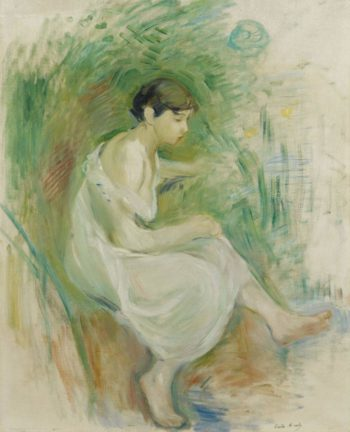 The Bather in Chemise 1894 | Berthe Morisot | oil painting