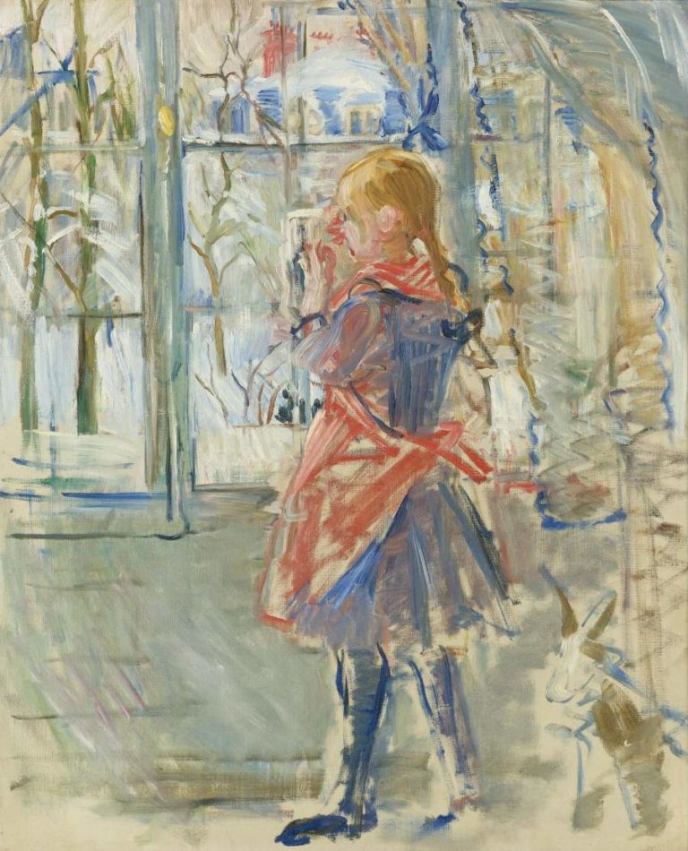 The Girl in a Red Apron 1886 | Berthe Morisot | oil painting