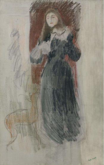 The Violin 1893 | Berthe Morisot | oil painting