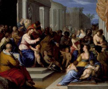 Suffer Little Children to Come Unto Me | Johann Rottenhammer | oil painting