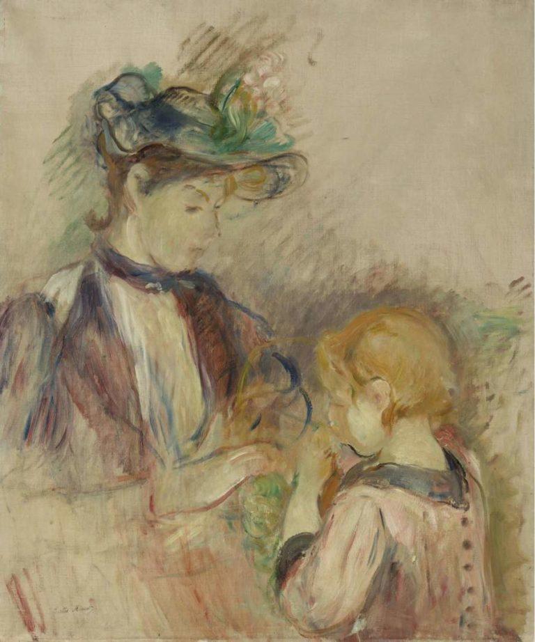 Young Woman and Child Avenue du Bois 1884 | Berthe Morisot | oil painting