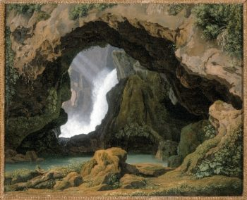 The Grotto of Neptune in Tivoli | Johann Martin von Rohden | oil painting