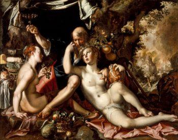 Lot and His Daughters | Joachim Antonisz Wtewael | oil painting