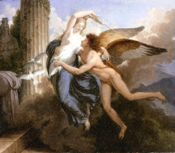 The Reunion of Cupid and Psyche | Jean-Pierre Saint-Ours | oil painting